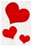 Σ' αγαπώ ευχετήρια κάρτα Στοκ Εικόνες