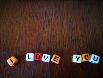 Σ' αγαπώ με το εκλεκτής ποιότητας υπόβαθρο στοκ εικόνα