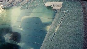 Σ' αγαπώ σε ένα παγωμένο παράθυρο απόθεμα βίντεο