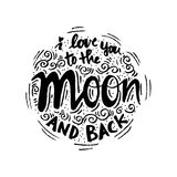 Σ' αγαπώ στο φεγγάρι και την πλάτη Στοκ Φωτογραφία