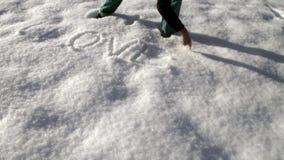 Σ' αγαπώ στο χιόνι απόθεμα βίντεο