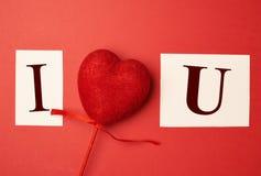 Σ' αγαπώ φράση Στοκ Εικόνες