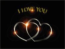Σ' αγαπώ χρυσός διανυσματική απεικόνιση