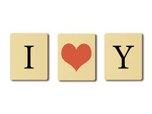 Σ' αγαπώ. Στοκ Φωτογραφία