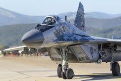 Σλοβάκικο MiG 29 υπομόχλιο στοκ φωτογραφίες