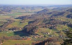 Σλοβένικη πόλη Maribor επαρχίας σχεδόν στοκ εικόνες