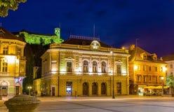 Σλοβένικη φιλαρμονική ορχήστρα στο Λουμπλιάνα Στοκ Φωτογραφία