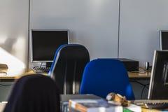 Τάξη - δωμάτιο PC Στοκ εικόνες με δικαίωμα ελεύθερης χρήσης