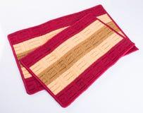 τάπητας ή doormat για τον καθαρισμό των ποδιών στο υπόβαθρο Στοκ εικόνες με δικαίωμα ελεύθερης χρήσης