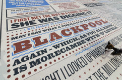 Τάπητας κωμωδίας στο Μπλάκπουλ lancashire, UK στοκ φωτογραφίες με δικαίωμα ελεύθερης χρήσης