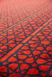 Τάπητας με τη διακόσμηση αστεριών στο αραβικό μουσουλμανικό τέμενος Στοκ φωτογραφία με δικαίωμα ελεύθερης χρήσης