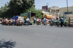 Τάπητας της Τεχεράνης bazaar Στοκ Εικόνες