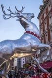 Τάρανδος Χριστουγέννων κήπων Covent Στοκ φωτογραφίες με δικαίωμα ελεύθερης χρήσης