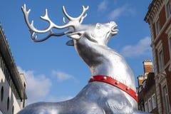 Τάρανδος Χριστουγέννων κήπων Covent Στοκ φωτογραφία με δικαίωμα ελεύθερης χρήσης