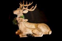 Τάρανδοι Χριστουγέννων Στοκ Φωτογραφίες