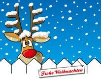 Τάρανδος με snowflakes Στοκ φωτογραφίες με δικαίωμα ελεύθερης χρήσης