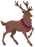 Τάρανδος Χριστουγέννων κινούμενων σχεδίων Στοκ Εικόνα