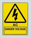 Τάση κινδύνου εναλλασσόμενου ρεύματος Στοκ Εικόνες