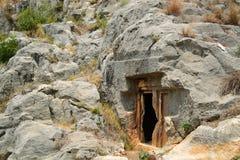 Τάφοι βράχου Στοκ Εικόνες