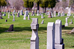 Τάφοι και νεκροταφείο στοκ εικόνα με δικαίωμα ελεύθερης χρήσης