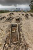 Τάφοι και πυρηνικός σταθμός Στοκ Φωτογραφία