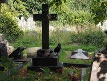 Τάφοι και σταυροί στο νεκροταφείο goth Στοκ φωτογραφία με δικαίωμα ελεύθερης χρήσης