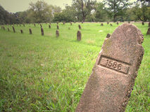 τάφοι που αριθμούνται Στοκ Φωτογραφίες