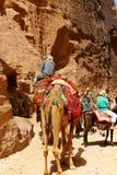 Τάφοι που χαράζονται στο βράχο στη Petra, Ιορδανία στοκ εικόνες