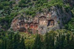 Τάφοι σπηλιών Kaunos Στοκ Φωτογραφίες