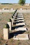 Τάφοι στο σοβιετικό νεκροταφείο Rossoshk Βόλγκογκραντ, Ρωσία Στοκ Φωτογραφία