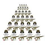 Τάφοι στρατιωτών Πολλοί στρατιωτικοί σταυροί ελεύθερη απεικόνιση δικαιώματος