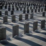 Τάφοι στρατιωτών το χειμώνα Στοκ Εικόνες