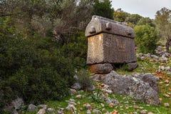 Τάφοι Lycian στην Τουρκία E Στοκ Εικόνες
