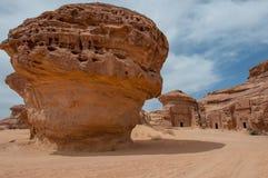 Τάφοι Nabatean στη archeological περιοχή Madaîn Saleh, Σαουδική Αραβία Στοκ Εικόνα