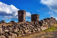 Τάφοι Sillustani - του Περού Στοκ εικόνα με δικαίωμα ελεύθερης χρήσης