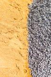 Τάφος, άμμος και πέτρα στη δημιουργική σύσταση και σχέδιο για το σχέδιο στοκ εικόνες με δικαίωμα ελεύθερης χρήσης