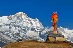 Τάφος ενός ορειβάτη στο στρατόπεδο βάσεων Annapurna Στοκ φωτογραφία με δικαίωμα ελεύθερης χρήσης