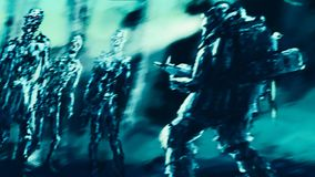 Τάφος εσωτερικών επίθεσης zombies πρόσκληση συγχαρητηρίων καρτών ανασκόπησης ελεύθερη απεικόνιση δικαιώματος