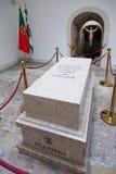 Τάφος με τα υπολείμματα ενός πεσμένου άγνωστου στρατιώτη στο αναμνηστικό παρεκκλησι Στοκ Εικόνες