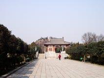 Τάφος του διαδόχου του θρόνου Yide, γιος του αυτοκράτορα Zhongzong στη δυναστεία του Tang, Xian, Κίνα στοκ φωτογραφίες με δικαίωμα ελεύθερης χρήσης