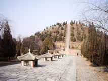 Τάφος του διαδόχου του θρόνου Yide στη δυναστεία του Tang, Xian, Κίνα στοκ φωτογραφία με δικαίωμα ελεύθερης χρήσης