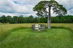Τάφος του Λαφαγέτ Meeks - κομητεία Appomattox, Βιρτζίνια, ΗΠΑ Στοκ φωτογραφίες με δικαίωμα ελεύθερης χρήσης