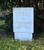 Τάφος του ολλανδικού αρχιτέκτονα Willem Marinus Dudok Στοκ φωτογραφίες με δικαίωμα ελεύθερης χρήσης
