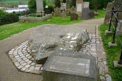 Τάφος του ST Πάτρικ ` s, Downpatrick, Βόρεια Ιρλανδία Στοκ εικόνα με δικαίωμα ελεύθερης χρήσης