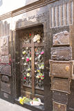 Τάφος Evita Peron και του Duarte Family με καμία Στοκ φωτογραφία με δικαίωμα ελεύθερης χρήσης