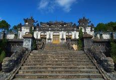Τάφος Khai Dinh, χρώμα, Βιετνάμ. Περιοχή παγκόσμιων κληρονομιών της ΟΥΝΕΣΚΟ. Στοκ Εικόνες