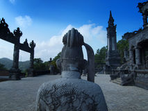 Τάφος Khai Dinh, χρώμα, Βιετνάμ. Περιοχή παγκόσμιων κληρονομιών της ΟΥΝΕΣΚΟ. Στοκ Εικόνα