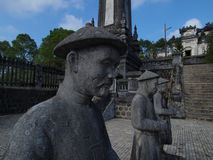 Τάφος Khai Dinh, χρώμα, Βιετνάμ. Περιοχή παγκόσμιων κληρονομιών της ΟΥΝΕΣΚΟ. Στοκ Φωτογραφία
