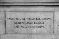 Τάφος Machiavelli στοκ εικόνα