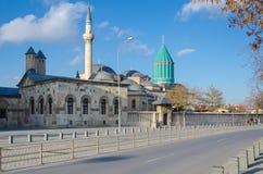 Τάφος Mevlana και μουσουλμανικό τέμενος μουσείων σε Konya, Τουρκία, στοκ φωτογραφίες